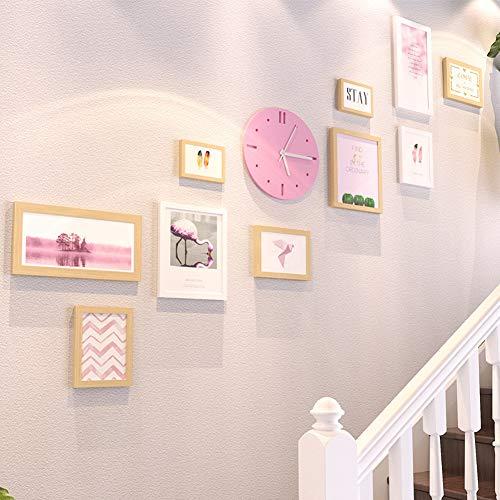 ZXZ-GO Cadre Photo Cadre Déco horloges murales et horloges Salon canapé Fond Suspendus peintures Combinaison créative Grandes peintures murales de Taille