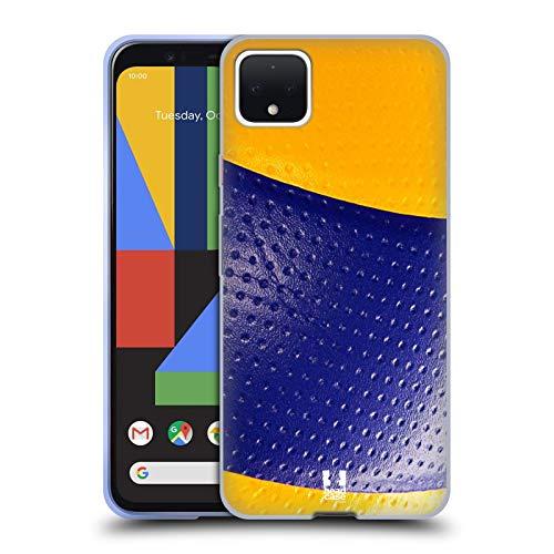Head Case Designs Volleyball Ball Kollektion Soft Gel Handyhülle Hülle Huelle und Passende Designer Hintergrundbilder kompatibel mit Google Pixel 4 XL