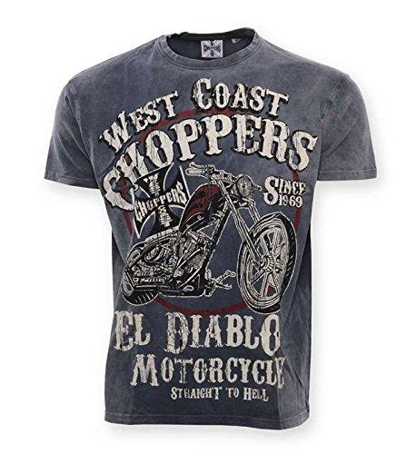 WCC West Coast Choppers T-Shirt El Diablo Blue-XL