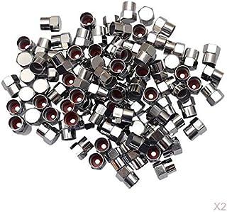 D DOLITY 200 peças de tampas de válvula de pneu de veículos