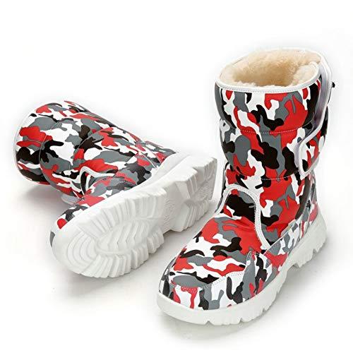 LIUJUN-WEI Botas de Nieve for Padres Y Niños for Padres, Zapatos Cálidos for Padres Y Niños, Niños Más Velvitas Zapatos de Algodón Acolchado (Color : G, Size : 36)