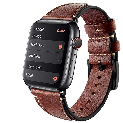 Compatibile con Apple Watch, 42 mm, 38 mm, 44 mm, 40 mm, cinturino di ricambio in vera pelle, stile vintage, per iWatch Bands 83012 (42 mm/44 mm, #2)