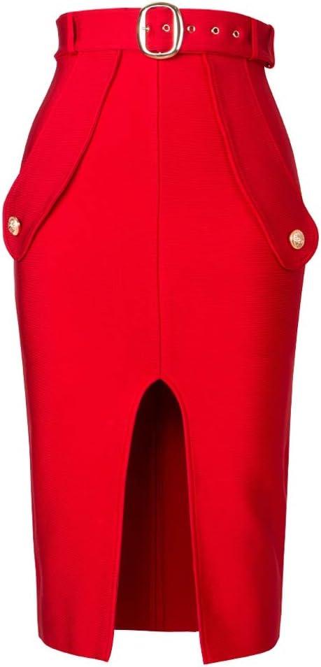 Popular overseas SPNEC Sexy Women's High Financial sales sale Waist Bandage Skirt Penc Length Knee New
