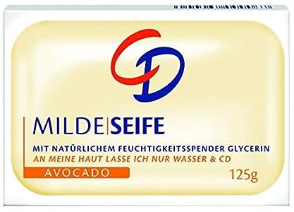 CD Jabón suave de aguacate, 125 g, jabón sólido con glicerina y aguacate en pack de 24 unidades (4 x 125 g)