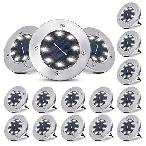 Solar Ground Lights 16 Packs - 8 LED...