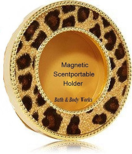 NEW Bath & Body Works Tiger Print Glitter Gold Magnetic Scentportable...