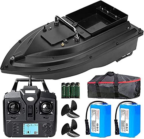 DBMGB Barca Esca Telecomandata da Pesca, Barchino Carpfishing con GPS e Luce Notturna a LED, RC Barca Dell esca-500m Posizionamento GPS, Scelta Migliore per la Pesca Notturna e Nuvolosa