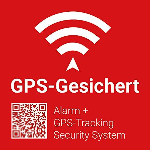 5X GPS-Gesichert/Alarmgesichert Warn-Aufkleber Sticker mit UV-Schutz, GPS-Nachverfolgung, 5x5cm Aussenklebend für elektronische Geräte sowie Motorrad, Baumaschinen, Boote