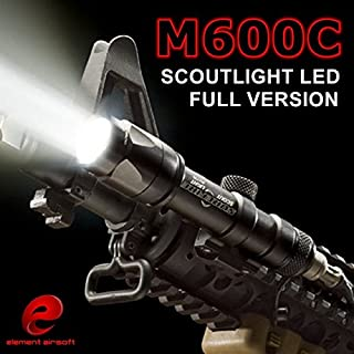 ZTAC Element Airsoft SF M600C Weapon Tactical Light LED Scout Flashlight EX 072(Black),Tactical Lights,Tactical Flashlight,Weapon Lights,Hunting Flashlight,Waterproof Flashlight