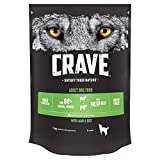 Crave Dry Dog Food with Lamb & Beef – High Protein & Grain-Free – 1 kg (Pack of 3)