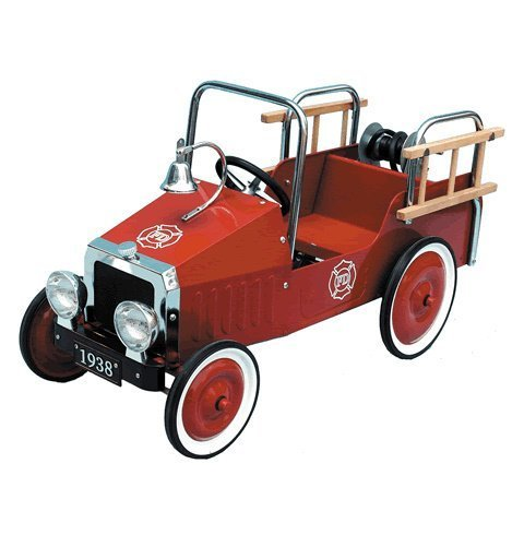 Great Gizmos - Gg8304 - Véhicule pour Enfant - Voiture Classique À Pédales - Voiture De Pompiers