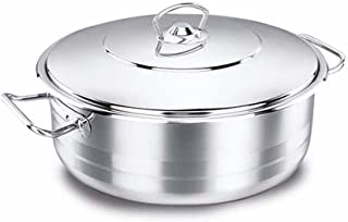 Korkmaz Astra Stainless Steel Capsulated Low Casserole With Stainless Steel Lids, Astra 24 X 8-3.6 Litre