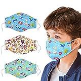 COAFIT 3 Piezas máscara de Boca de Dibujos Animados Media Cara Transpirable máscara Antipolvo máscara de algodón para niños