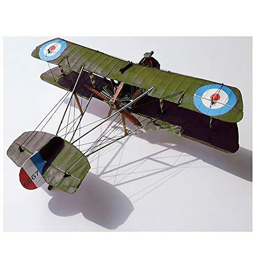Lllunimon 1/33 Reino Unido Airco DH.2 Wing Fighter Modelo Kit DIY 3D Papel Modelo Modelo Conjuntos de construcción Juguetes de construcción Regalo Militar