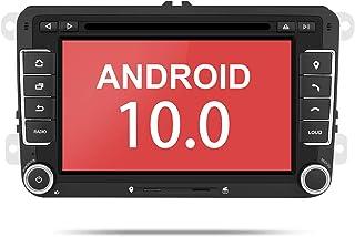 """Aumume 7"""" Android 10.0 Autoradio con Pantalla Táctil para VW Golf Seat Skoda con Navi Soporta Mirrorlink DSP Autoplay Control del volante Bluetooth DAB + (con tarjeta de 16 GB)"""