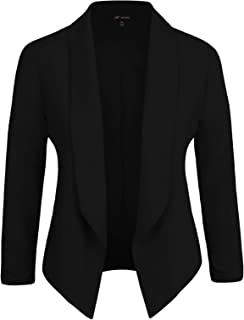 Michel Womens Blazer Work Office Lightweight Stretchy Open Front Lapel Jacket Style Cardigan with Plus Size (1XL ~ 3XL)