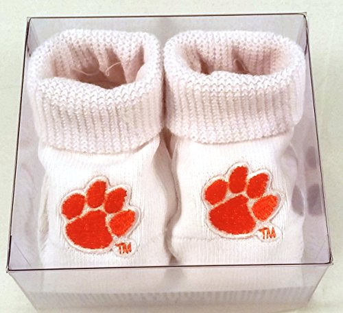 Clemson Tigers Boxed Baby Booties