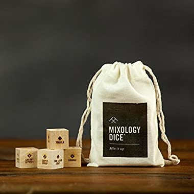 Mixology Dice® (pouch)//Cocktail inspiration, gifts for him, men, guys, bartender, hostess, or coworker