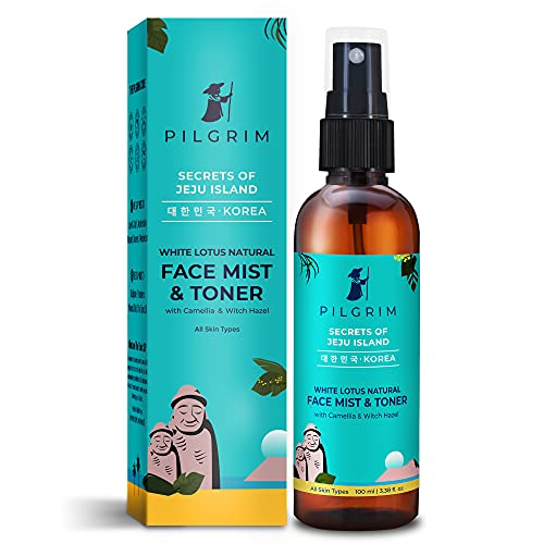 Pilgrim Alcohol Free Face Toner, Face Mist For Pores Tightening, Glowing Skin, Dry, Oily, Combination, Acne Skin, Korean Beauty...
