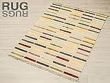 Rugsedition Alfombra Indio durry Mix 140x 200Moderno re08681Oferta Oriental Original cerificato.