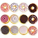 Liberty Imports 12 Piece Assorted Fake Donuts Pretend Play Toy Faux Doughnuts Food Set for Kids