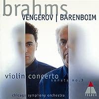 BRAHMS: VIOLIN CONCERTO/ VIOLIN SONATA,3(reissue) by Maxim Vengerov (2011-07-20)