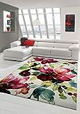 Traum Alfombra diseñador Alfombra Moderna Alfombra de la Sala Motivo Floral Verde Crema Rosado de la Turquesa Größe 160x230 cm