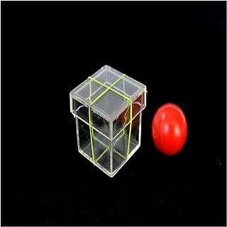 1 مجموعة سحر الدعائم الأطفال الكرة تخترق من خلال مربع السحر لعبة خدعة سحرية للمحترفين الساحر المستحضر المرحلة الصورة عن قرب