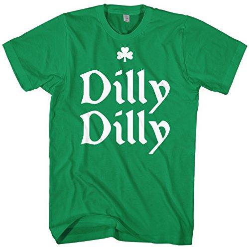 Mixtbrand Mens Dilly Dilly St. Patricks Day Shamrock T-Shirt L Kelly