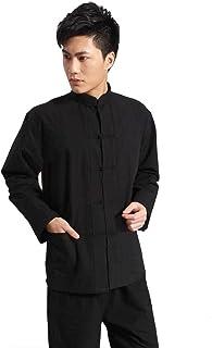 قميص رجالي موحد Tang Kung Fu طويل الأكمام تقليدي من ZooBoo