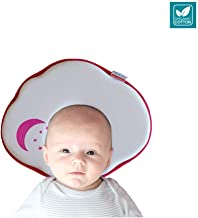 SECOND MUM Baby Pillow for Newborn, Baby Head Shaping Pillow for Infant Flat Head Syndrome Prevention and Head Support