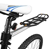 Ibera Länge-einstellbarer Fahrrad Gepäckträger, Sattelstütze Heckablage, Schwarz