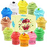 iMelitoy 12 Pack Fruit Butter Slime Kit with Fresh Mint Scent, Pineapple Scent, Coffee Scent or Cherry Scent, Super Soft and Non Sticky Novelty Gag Toys, DIY Sludge Slime,Best Party Favors for Girls