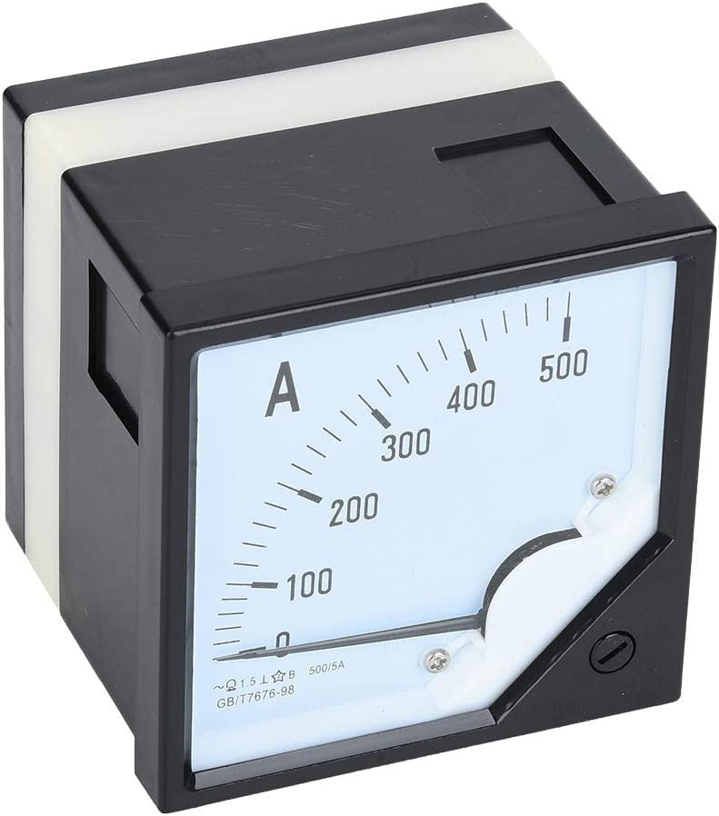 Current Meter Tester Square Panel Ammeter 500A store Gauge Cl Baltimore Mall