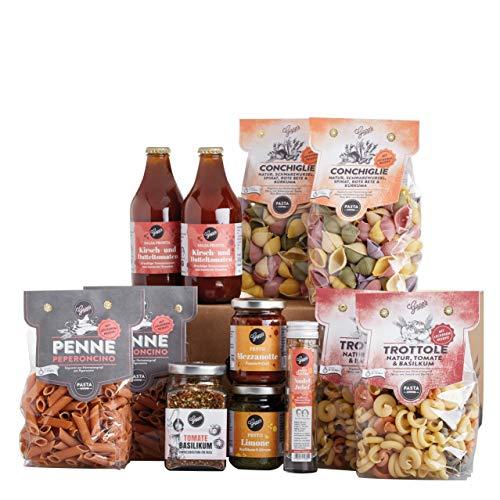 Gepp's Feinkost Pasta Paket Familie   Grundpaket gefüllt mit leckeren italienischen Delikatessen, hergestellt nach eigener Rezeptur   Als Geschenk für echte Pastafreunde oder für den Familien-Vorrat