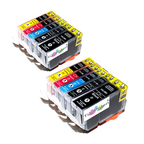 10x Premium kompatible Tintenpatronen ersetzt Canon PGI 5, CLI 8 für Pixma IP 4200, 4300, 4500, 5200, 5300
