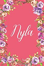 Nyla: Personalized Name Lined Writing Journal Notebook For Girls and Women