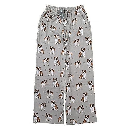 E & S Imports Women's Bulldog Dog Lounge Pants - Pajama Pants Pajama Bottoms - X-Large