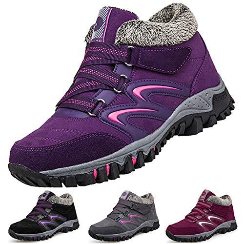 Camfosy Chaussures de Randonnée Hiver Femme,...