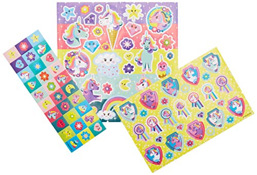 TOTUM 71384 Unicorn Sticker-Set: Gestalte Deine eigene zauberhafte Einhornwelt mit verschiedenen Motiven wie Einhörnern, Diamanten und Regenbögen