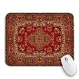 Gaming mouse pad rot orientalischer perserteppich muster altes königliches ethnisches traditionelles rutschfestes gummi-backing-mauspad für notebooks computer mausmatten