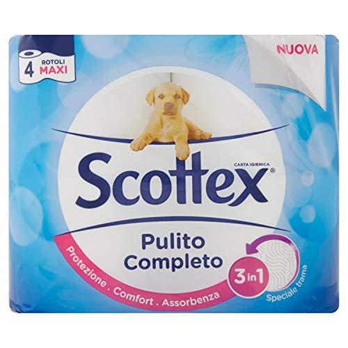Scottex Pulito Completo Toilettenpapier, 4Rollen