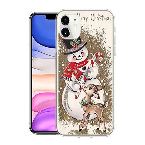 Yoedge Funda para Apple iPhone 11, Cárcasa Silicona Transparente con Navidad Dibujos Antigolpes Animados Suave...