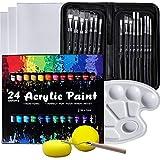 VIKEWE Acrylic Paint Set, 48 Piece Professional...