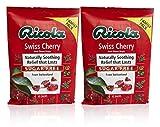 Ricola Sugar Free Swiss Cherry Herbal Cough Suppressant Throat Drops, 45ct Bag (Pack of 2)