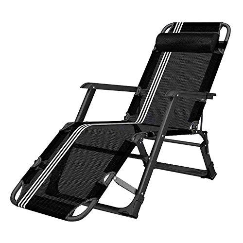 WJJJ Stuhl Klappstuhl Entspannungsstuhl Liegestuhl Liegestuhl Gartenstuhl Terrasse Mittagspause Büro Sonnenbank Textilene