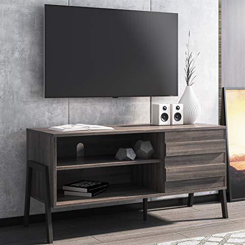 WAMPAT TV Schrank TV-Lowboard Fernsehtisch Industrie-Design 110x40x53cm(LxBxH)