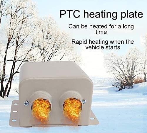 Calefactor portátil para parabrisas, de Riloer, 12 V/24 V, calefactor adicional para coche, 600 W/800 W