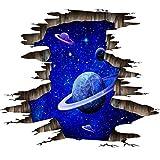 Pared rota cielo estrellado planeta pegatinas de pared pegatinas de suelo sala de estar dormitorio habitación de los niños decoración tridimensional