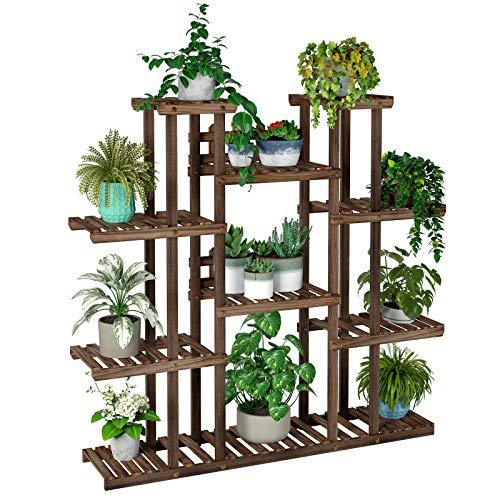 Homfastyle Estantería Decorativa Macetas Soporte Madera para Plantas Escalera Flores Exteriores Interiores al Aire Libre para Salón Terraza Balcón